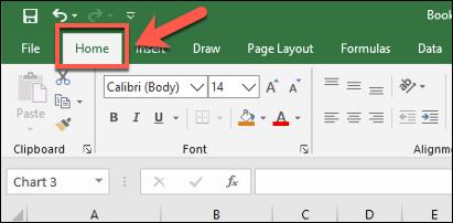"""La pestaña """"Inicio"""" en la barra de cinta de Excel, con varias opciones de formato de texto disponibles"""