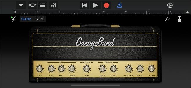 GarageBand Virtual Guitar Amp