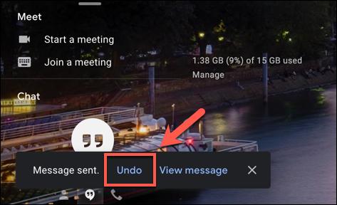 """Presiona """"Deshacer"""" para recuperar un correo electrónico de Gmail enviado en la parte inferior izquierda de la ventana web de Gmail."""