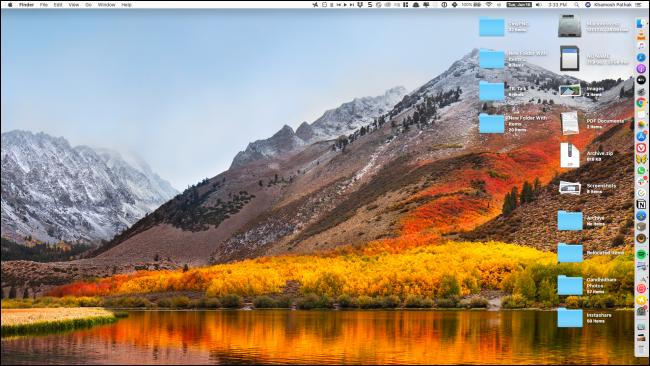 Mac desktop after customization