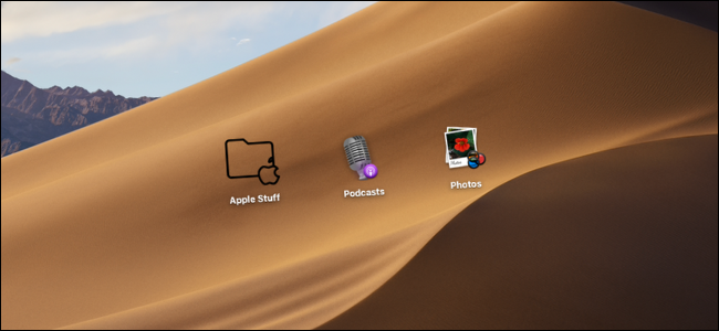 Usuario de Mac que cambia los iconos de las carpetas de archivos y las aplicaciones en el escritorio