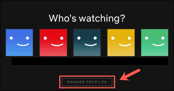 "Click ""Manage Profiles."""