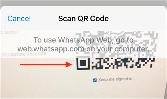 Escanea el código QR del iPhone