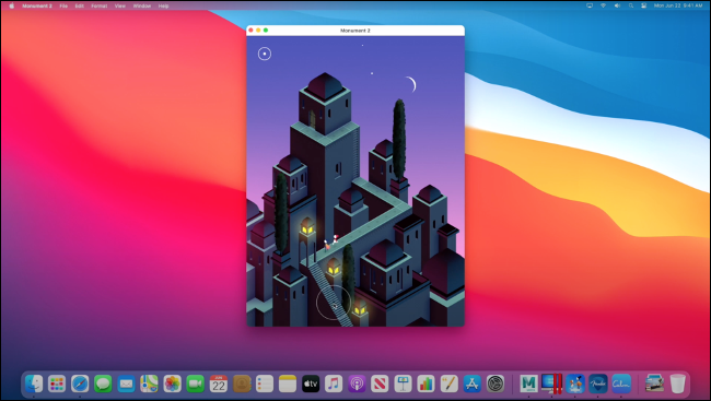 """""""Monument Valley 2"""" running on macOS via Rosetta 2."""
