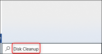 Search for disk cleanup