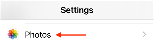 Select Photo section from Settings
