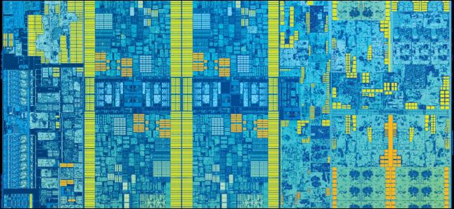 An Intel Skylake Die.