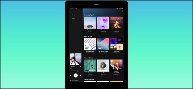 Spotify iPad Tablet Interface