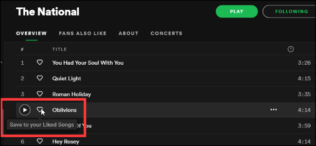 Spotify Saving Songs