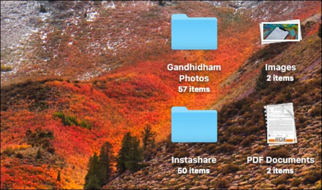 Stacks in Mac desktop