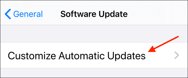 Tap Customize Automatic Updates