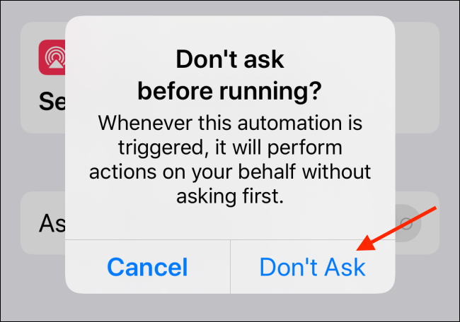 Tap Don't Ask from the popup