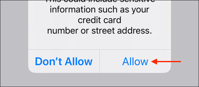 Tap on Allow from popup