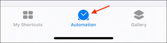 Toque la pestaña Automatización en Accesos directos