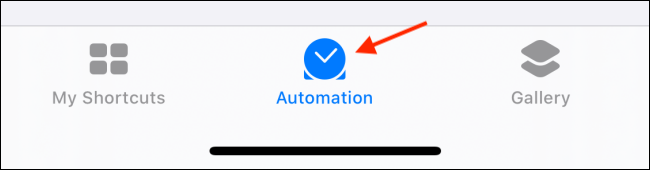 Tap on Automation tab in Shortcuts