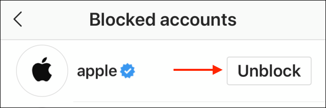 "Tap ""Unblock."""
