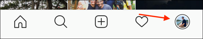 Tap your Profile icon.