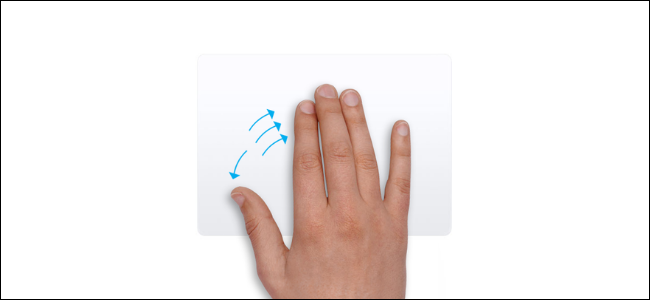Trackpad gesture for showing desktop on Mac