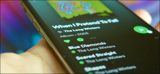 Usuario descargando canciones de Spotify para acceso sin conexión