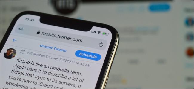 Scheduling a Tweet on a smartphone.