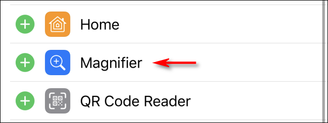 Add Magnifier Shortcut to Control Center on iPhone