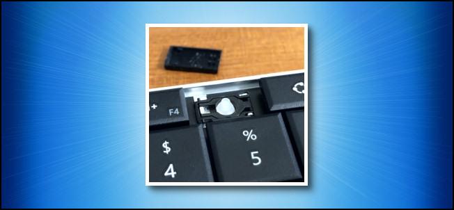 A broken keyboard key.
