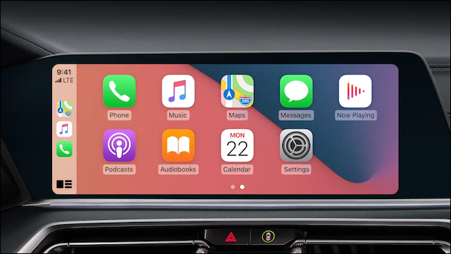 CarPlay on iOS 14 with custom wallpaper