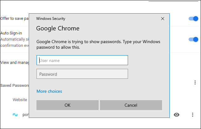 "The ""Windows Security"" dialog box for Google Chrome."