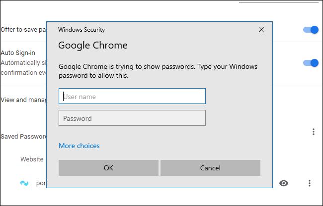 "The ""Windows Security"" dialog box for Google Chrome."