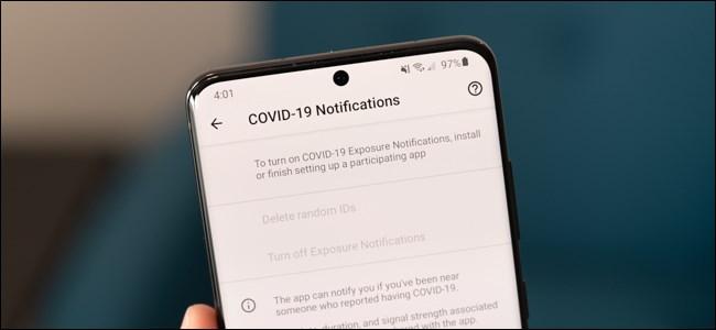 Configuración de notificación COVID-19 en Android