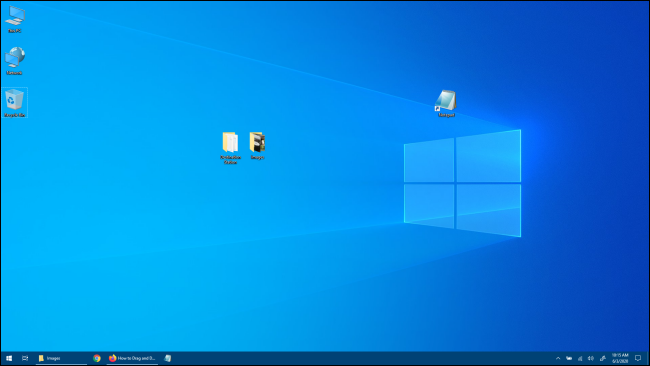 Windows 10 Desktop with no Application Windows