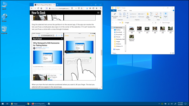 Windows 10 Desktop with Application Windows