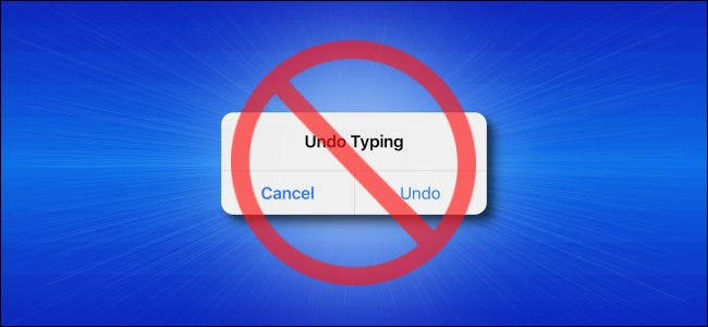 Undo Typing Pop-up on an iPhone with a Cancel Symbol over it