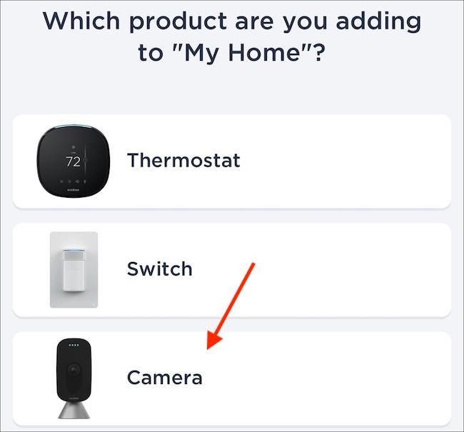 Adding an ecobee camera