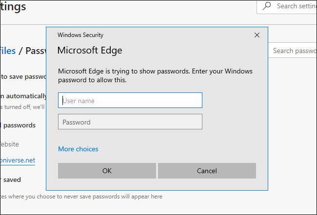 Microsoft Edge asking for system password on Windows