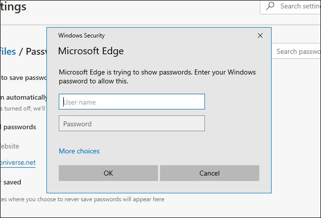 Microsoft Edge asking for system password on Windows