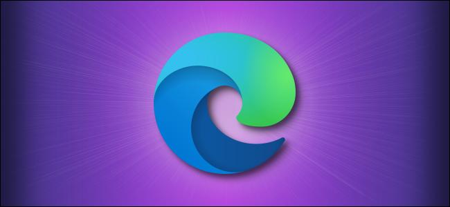 Logo Microsoft Edge su viola