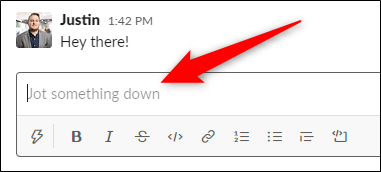 Exit the menu, open a conversation, click the text box, and then select the Up Arrow key