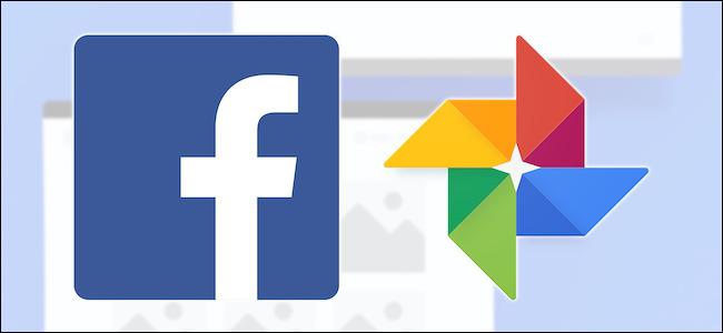 Facebook and Google Photos logos