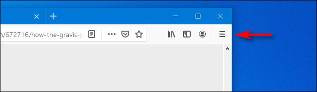 Haga clic en el icono de hamburguesa en Firefox