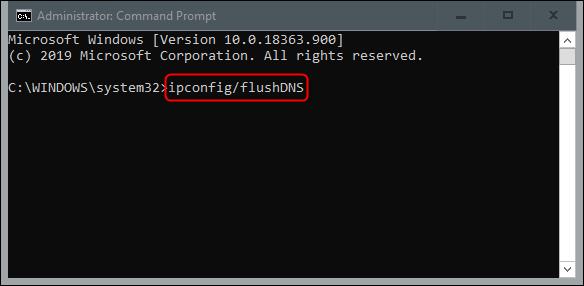 flush dns command