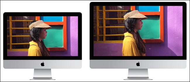 A 2019 Apple iMac 21- and 27-inch display.