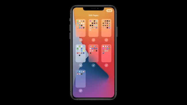 iOS 14 edit pages
