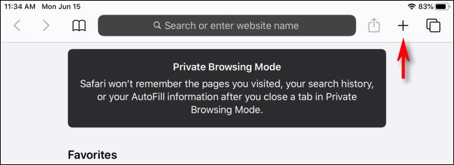 Modo de navegación privada de iPad