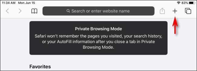 iPad Private Browsing Mode