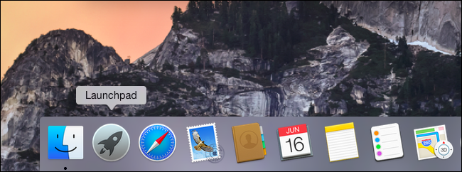 Launchpad added to Dock on Mac