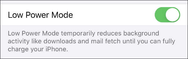 """Toggle-On """"Low Power Mode"""" to save your iPhone battery's charge."""