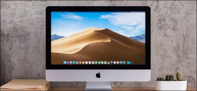 An iMac desktop.