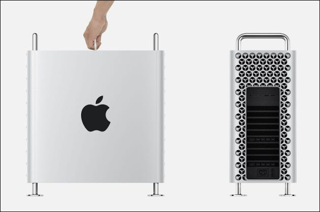 """The 2019 Apple """"Cheese Grater"""" Mac Pro."""