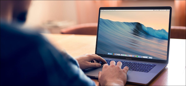 MacBook user using shortcut to show the desktop on Mac